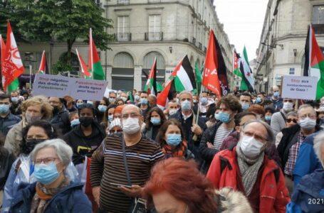 Plus de 1000 personnes rassemblées à Nantes pour témoigner de notre solidarité avec le peuple palestinien